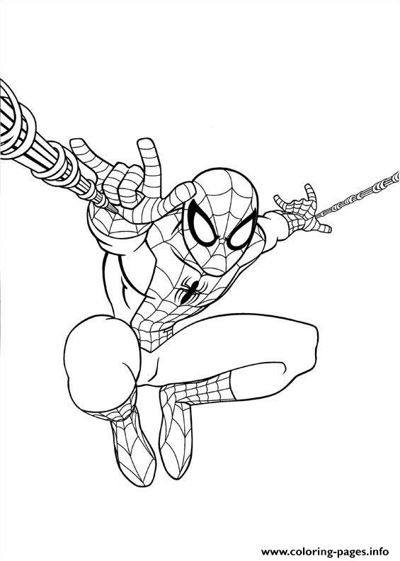 Ultimate Spiderman Jump Coloring Pages Printable Ultimate Spider Coloring Pages