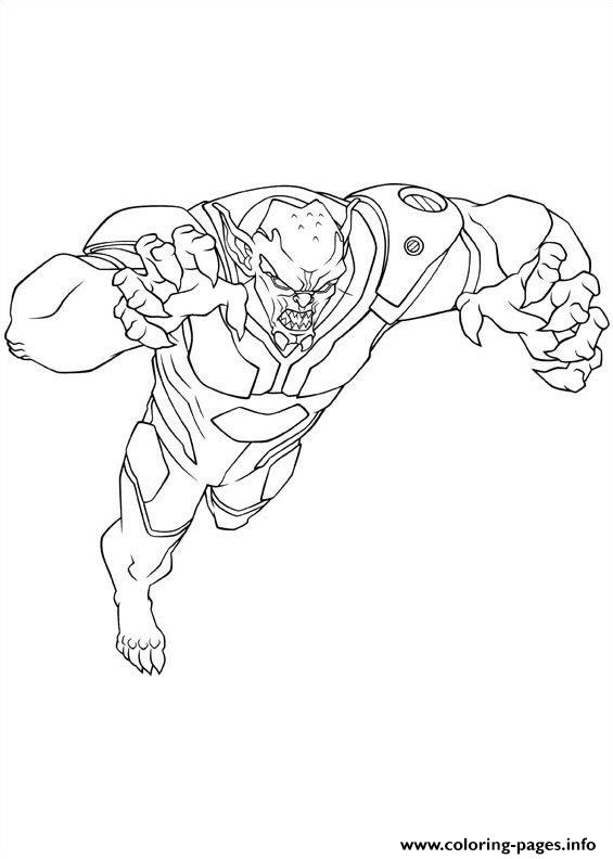 Ultimate Spiderman Green Goblin Coloring Pages Printable