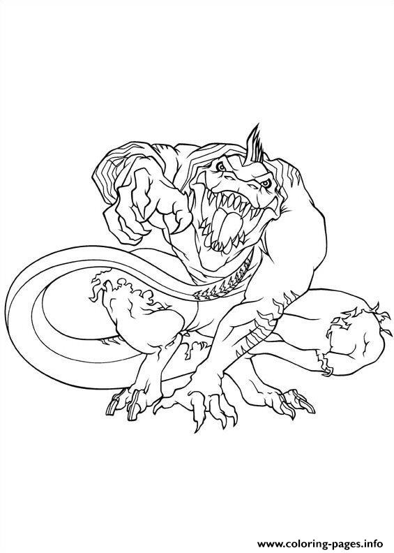 Ultimate Spiderman Lizard Coloring Pages Printable