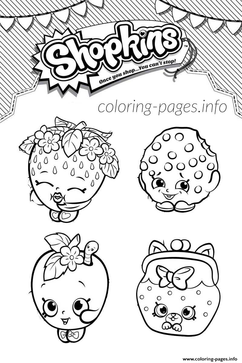 Shopkins Welcome To Shopville Game Coloring Pages Printable