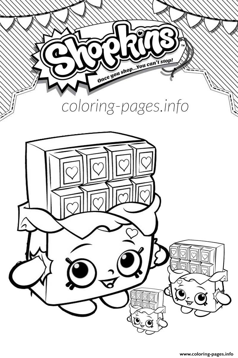 shopkins cheeky chocolate and babies coloring pages printable