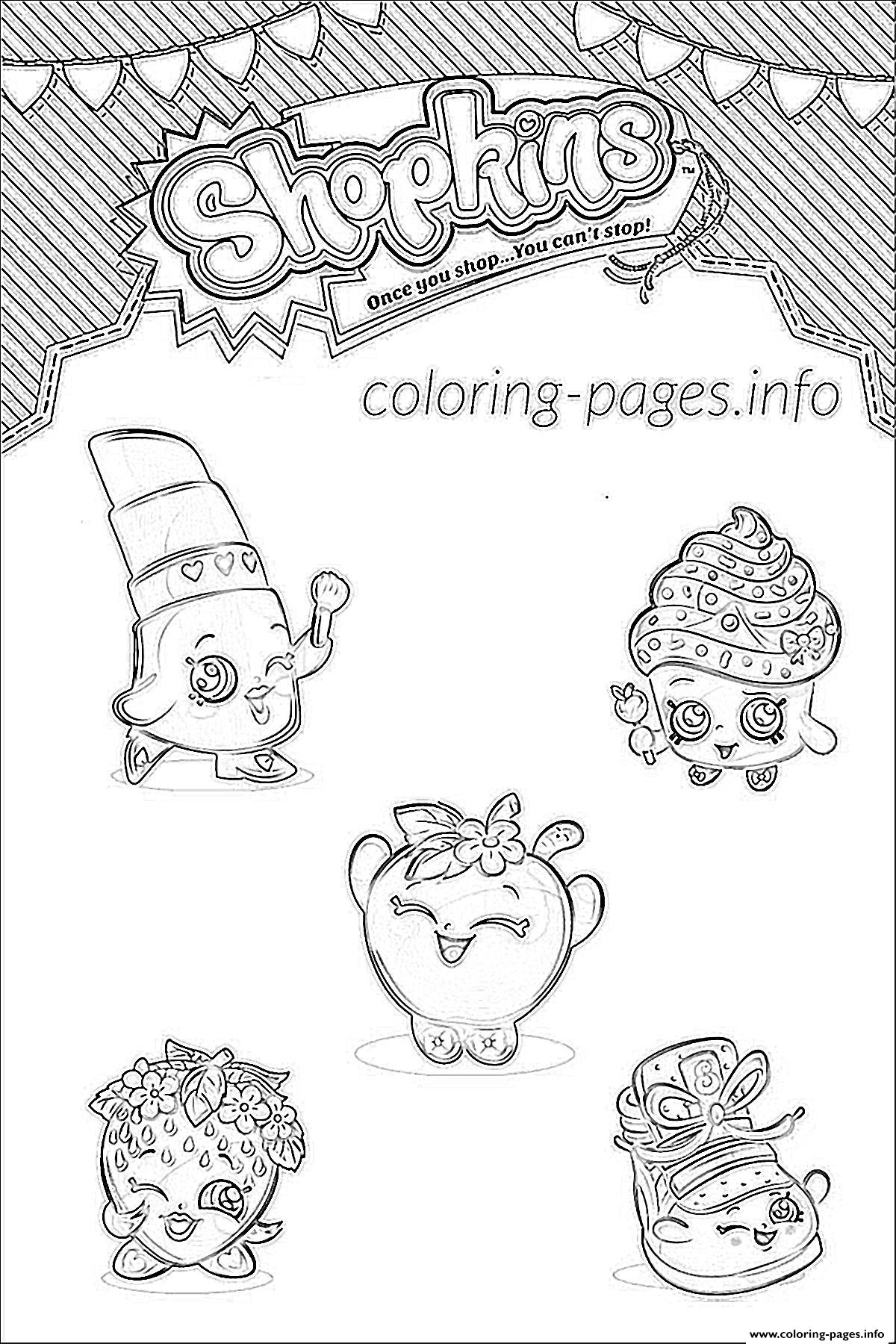 Shopkins Family List Characters Coloring Pages
