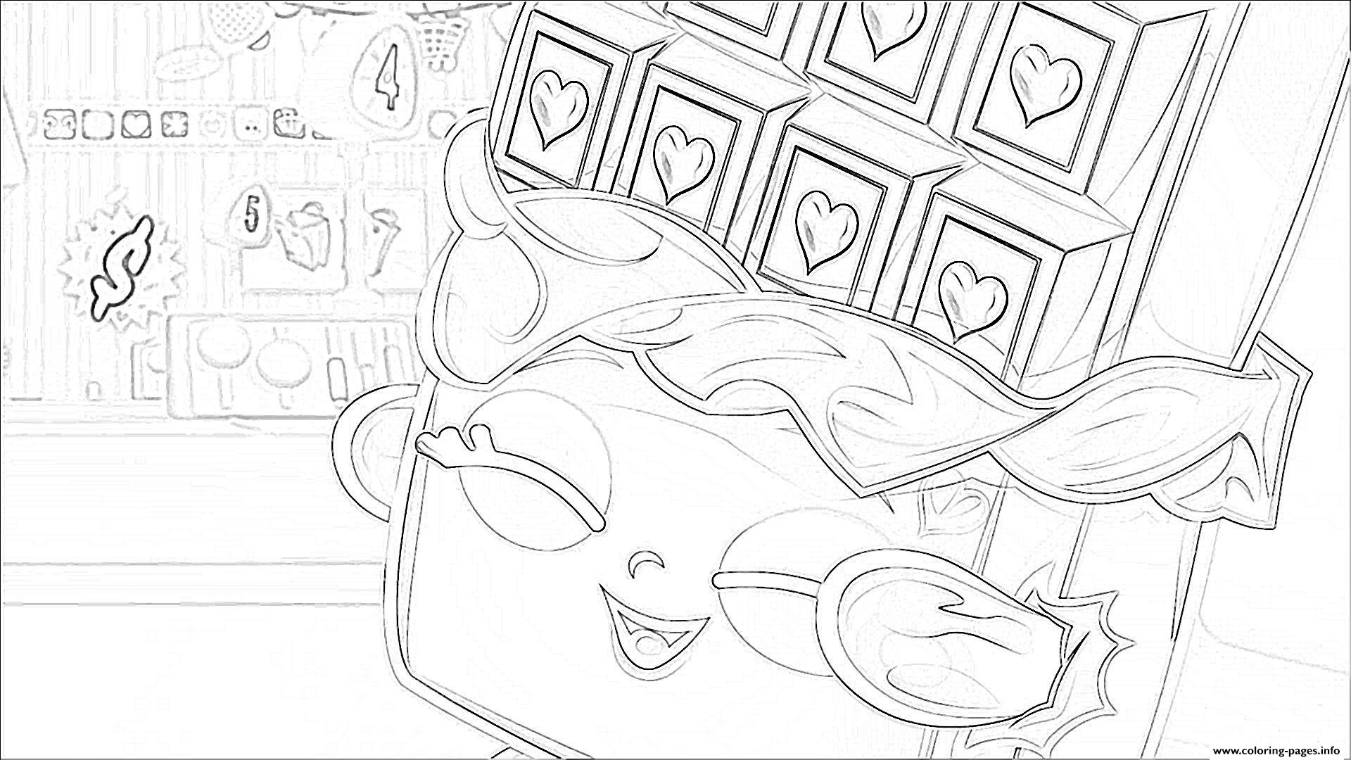 shopkins chocolate bar coloring pages