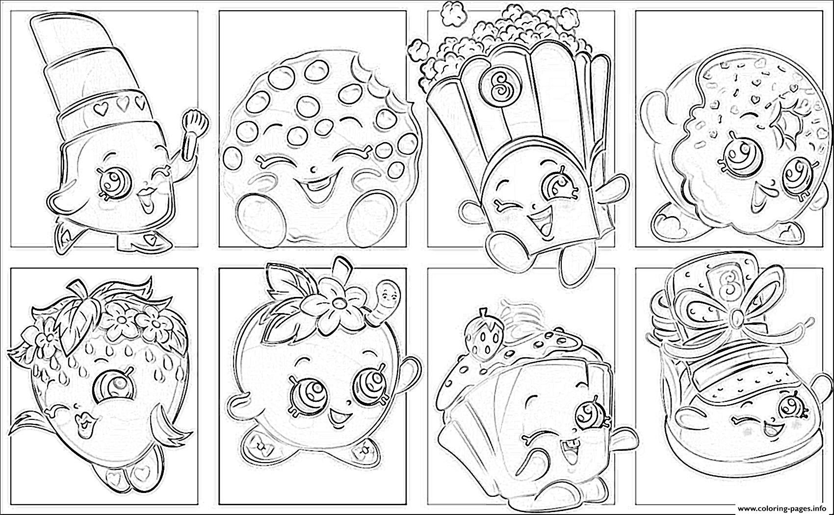 Shopkins List Coloring Pages Printable