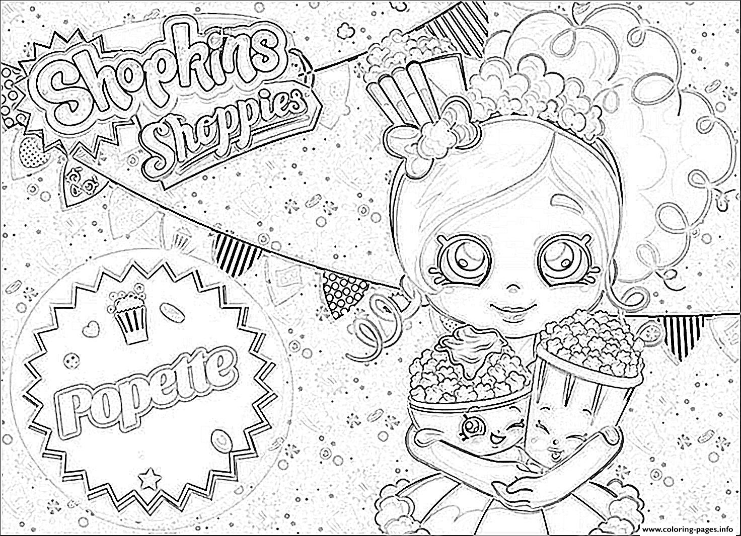 Shopkins Popette Official coloring pages