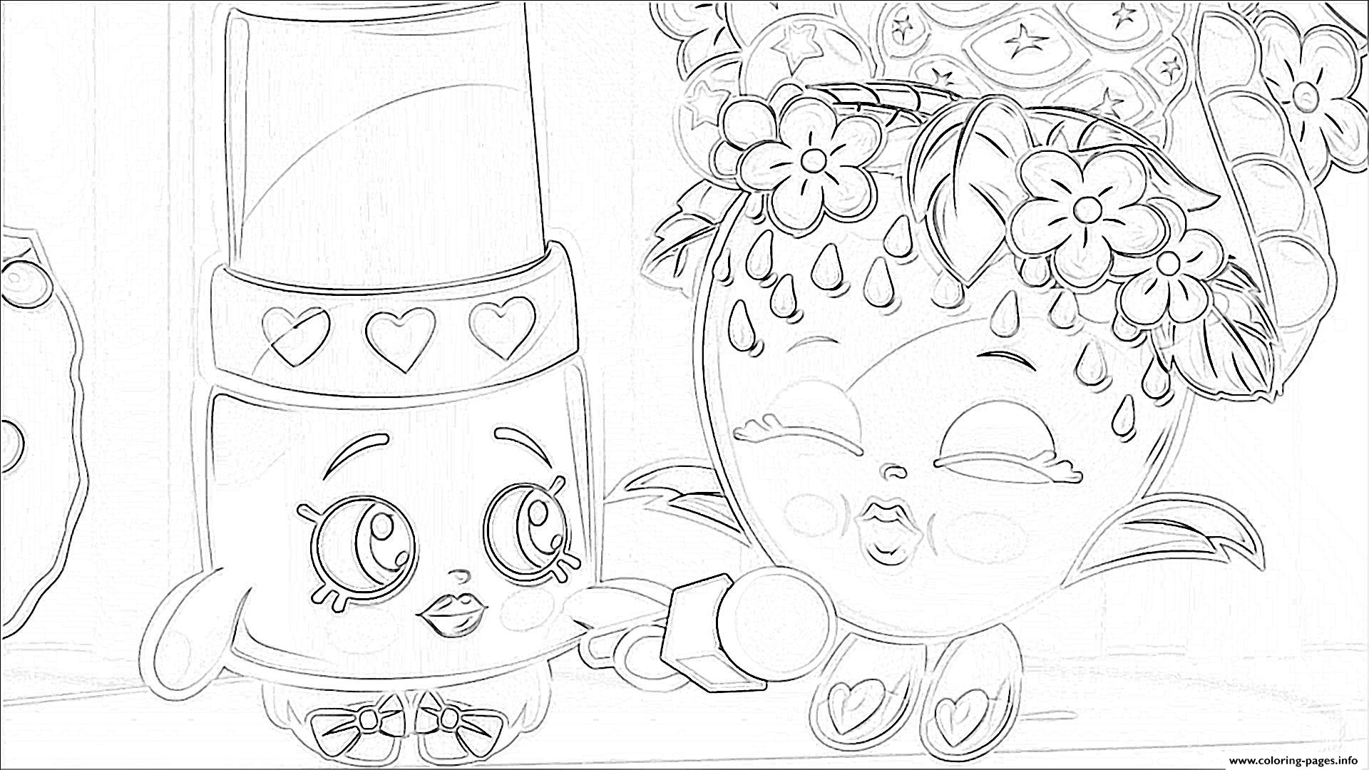 Shopkins Season 2 Episode 1 Coloring Pages Printable