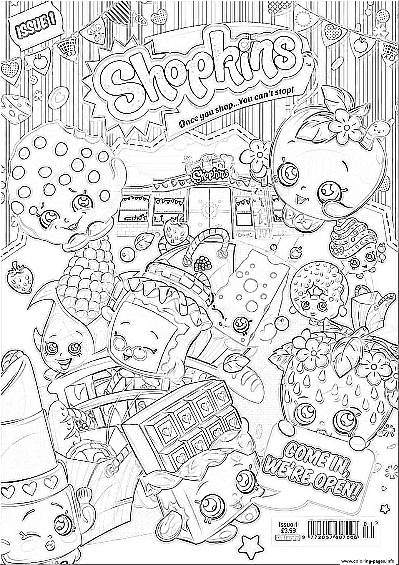 Shopkins We Are Open Coloring Pages Printable