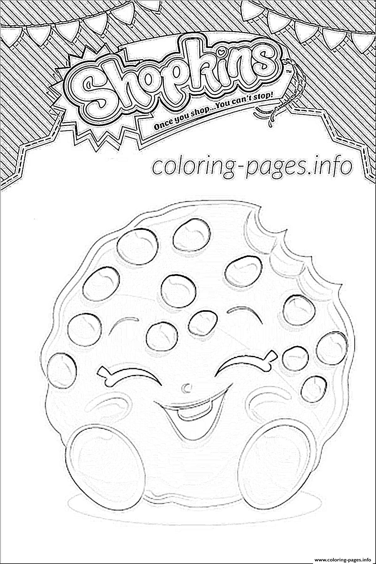 shopkins kooky cookie shoppies coloring pages printable