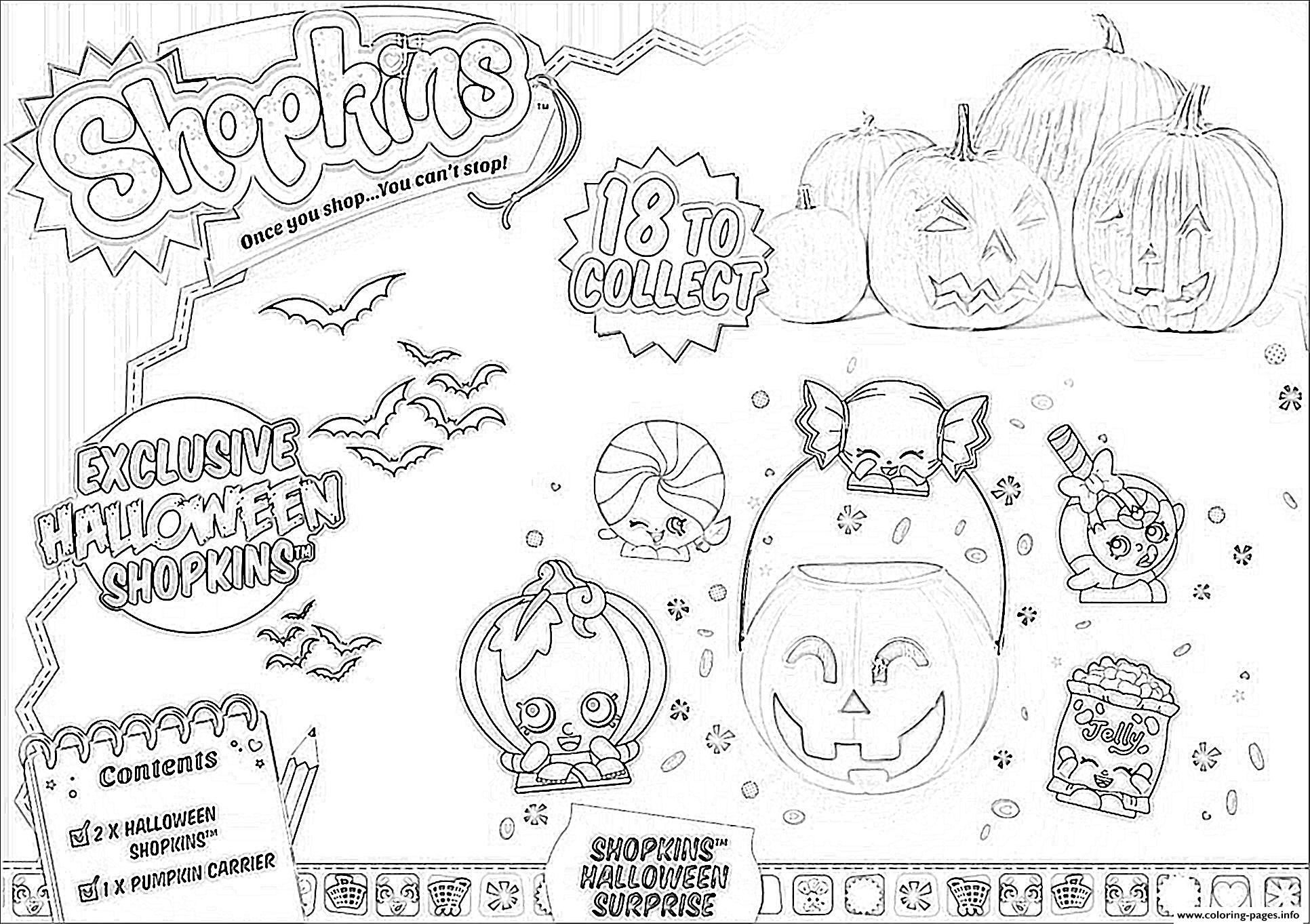 Shopkins Halloween Coloring Pages