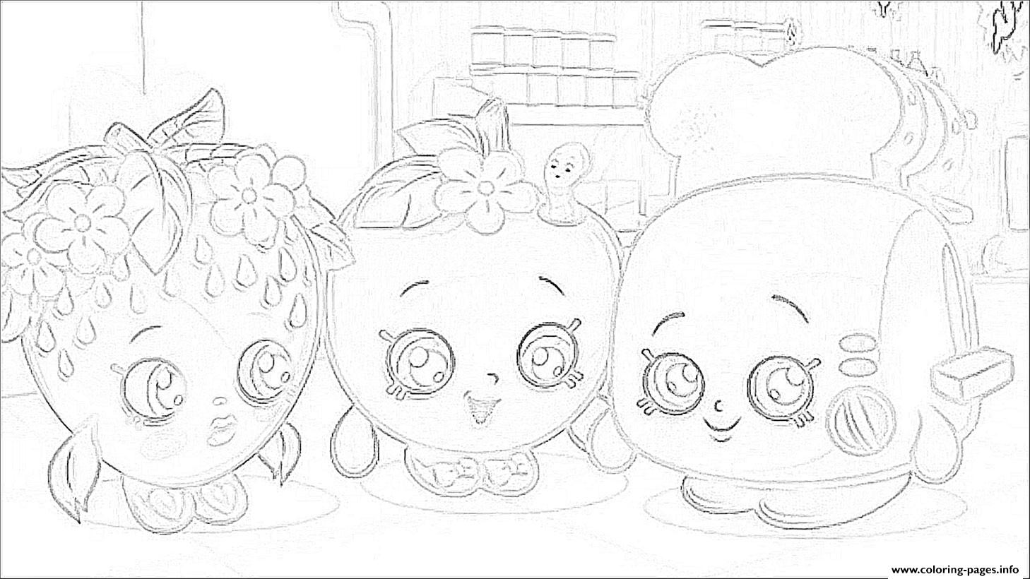 shopkins movie  coloring pages