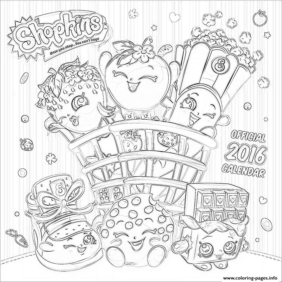 Shopkins Official 2016 Coloring Pages Printable