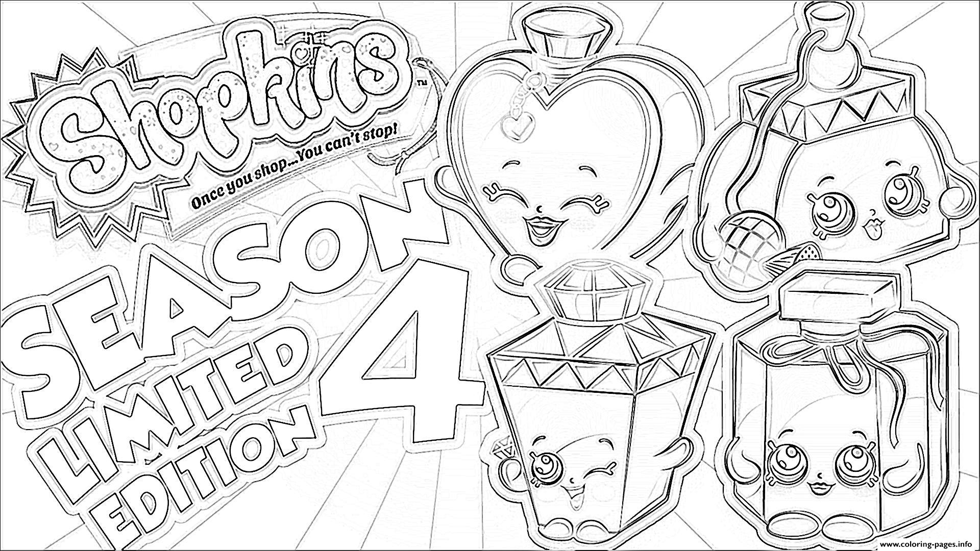 Shopkins Season 4 Limited Edition Coloring Pages Print Download 584 Prints