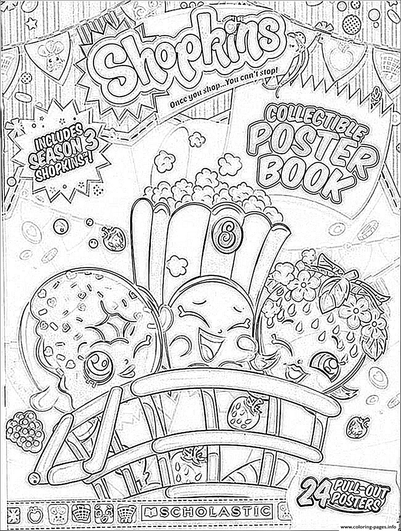 Shopkins Season 3 Book Coloring Pages