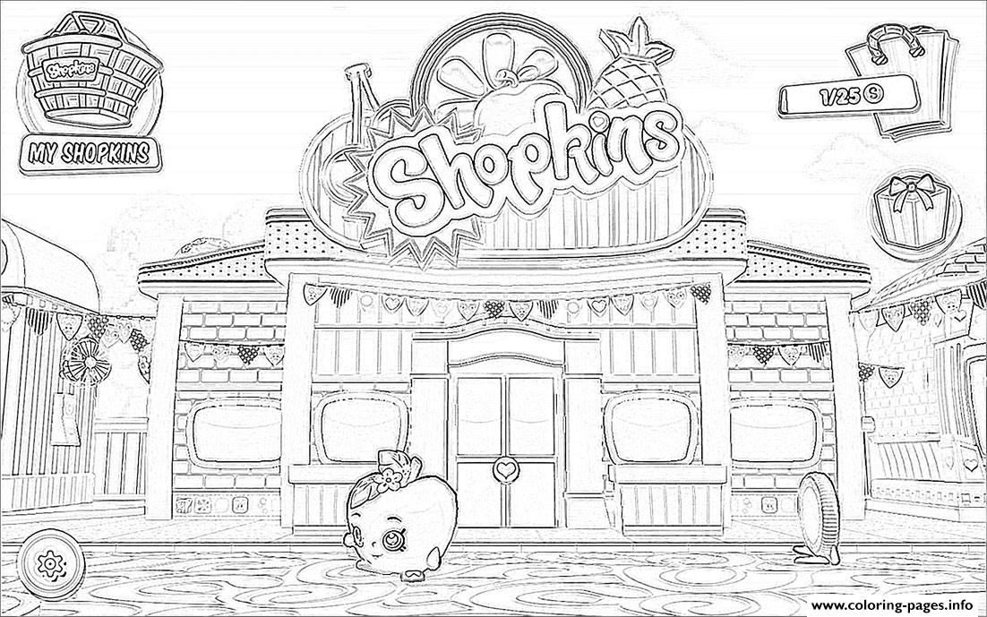Shopkins Welcome To Shopville Game Coloring Pages Print Download 546 Prints