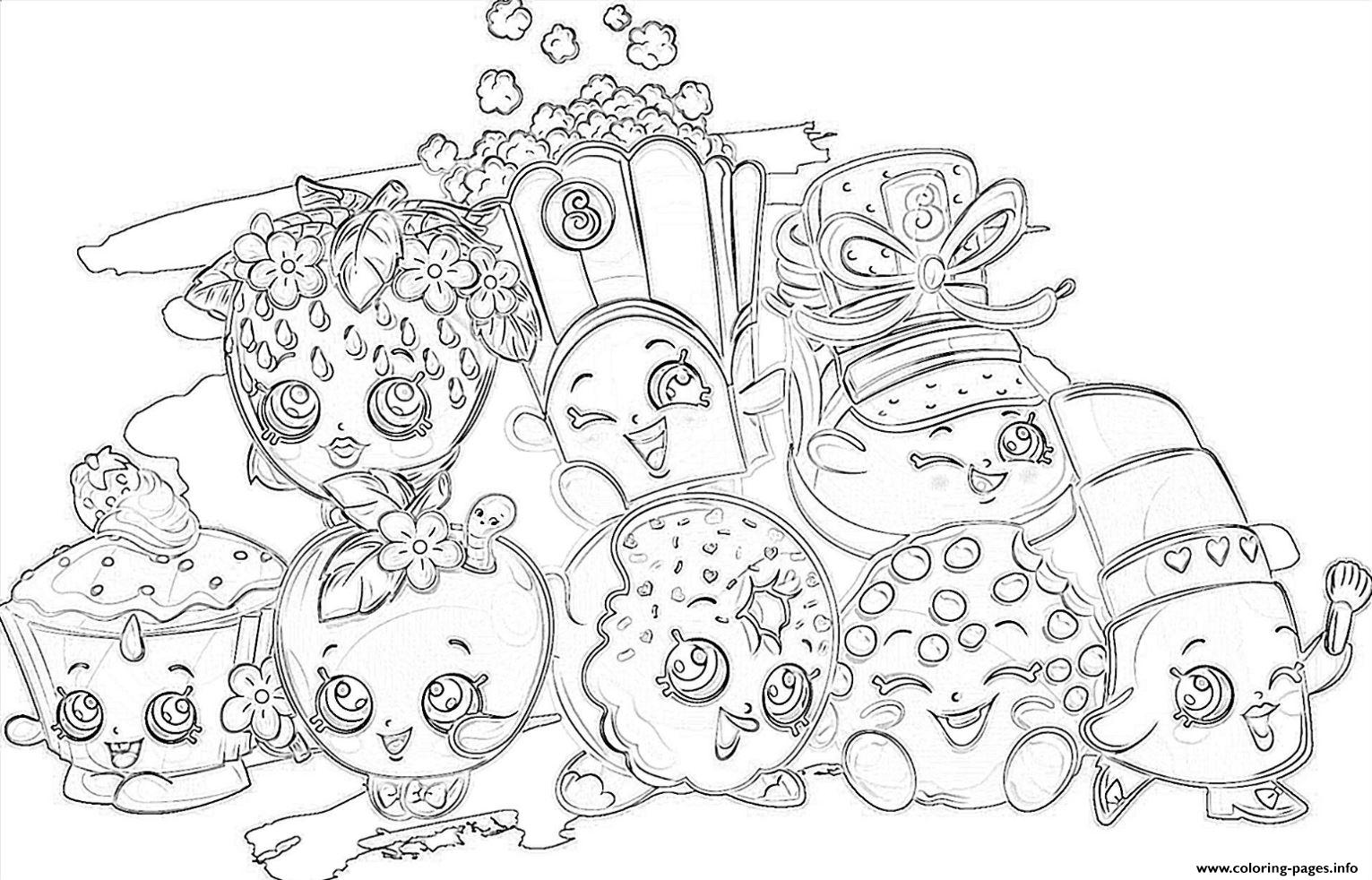 shopkins all the family coloring pages printable - Hopkins Coloring Pages Print