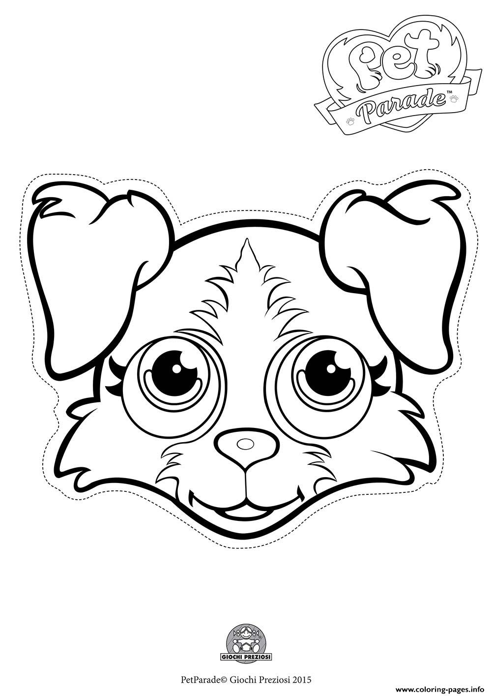Pet Parade Cute Dog Border Collie 2 coloring pages