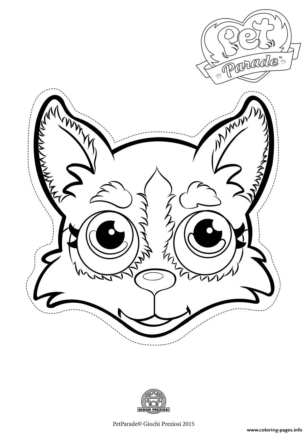 pet parade cute dog husky 2 coloring pages printable
