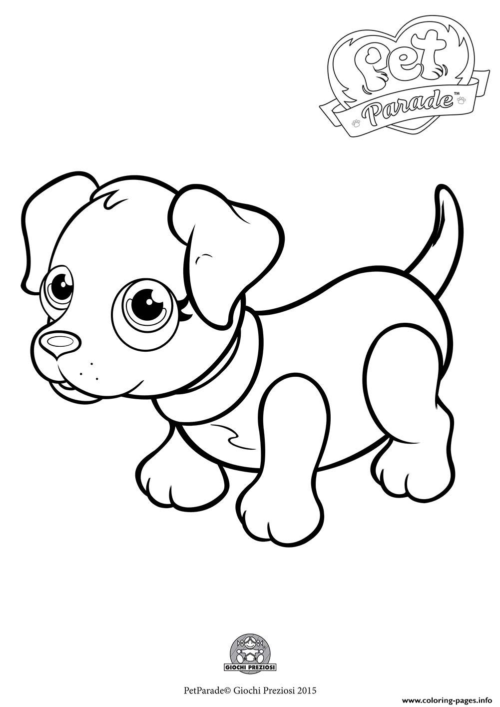 Pet Parade Cute Dog Labradog Coloring Pages