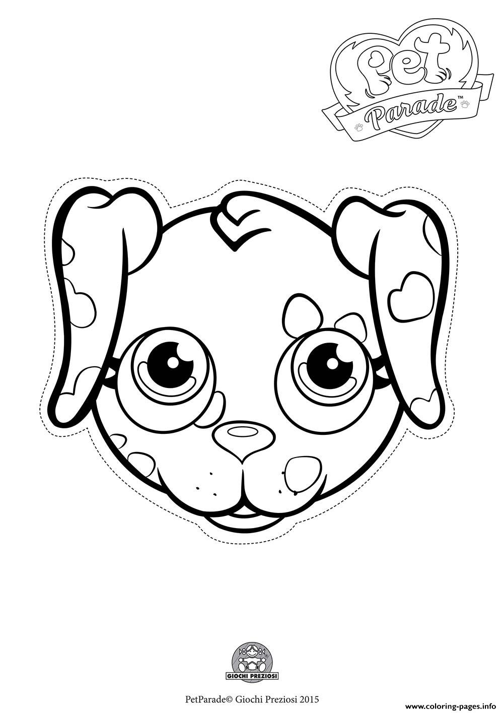 Pet Parade Cute Dog Dalmatian 2 Coloring Pages Printable