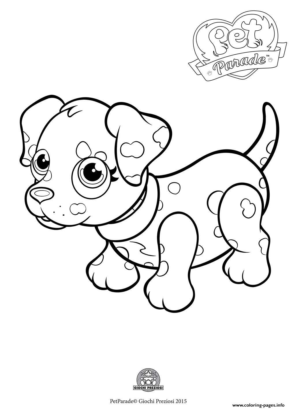 Pet Parade Cute Dog Dalmatian Coloring Pages