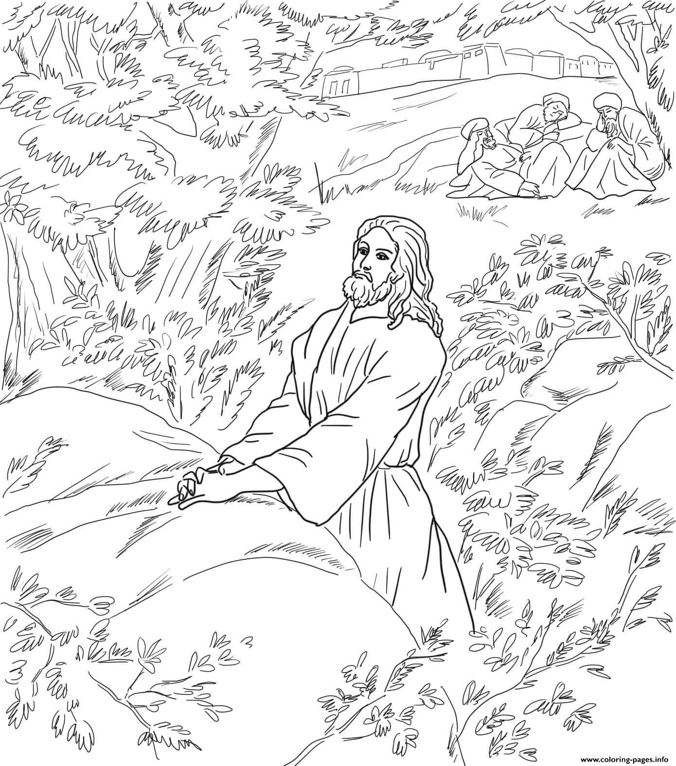 Good Friday 1 Jesus Pray In The Garden Of Gethsemane