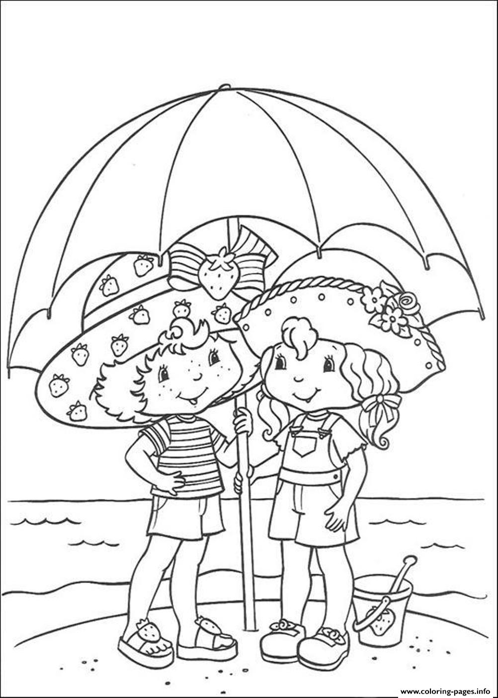 Strawberry Shortcake  Summer In The Beach86e8 coloring pages