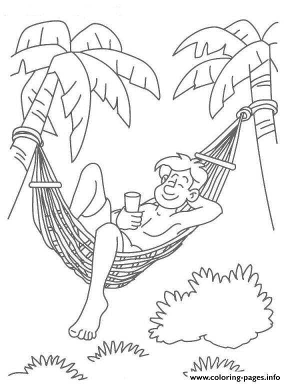 Enjoying Hot Summer Day 4f88 Coloring Pages Printable
