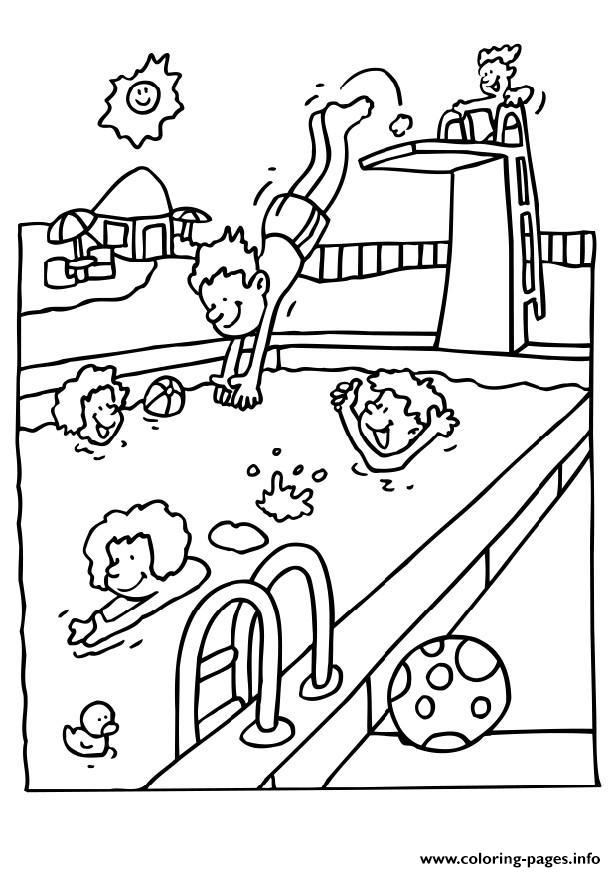 For Kids In The Summer We Swimming651f coloring pages