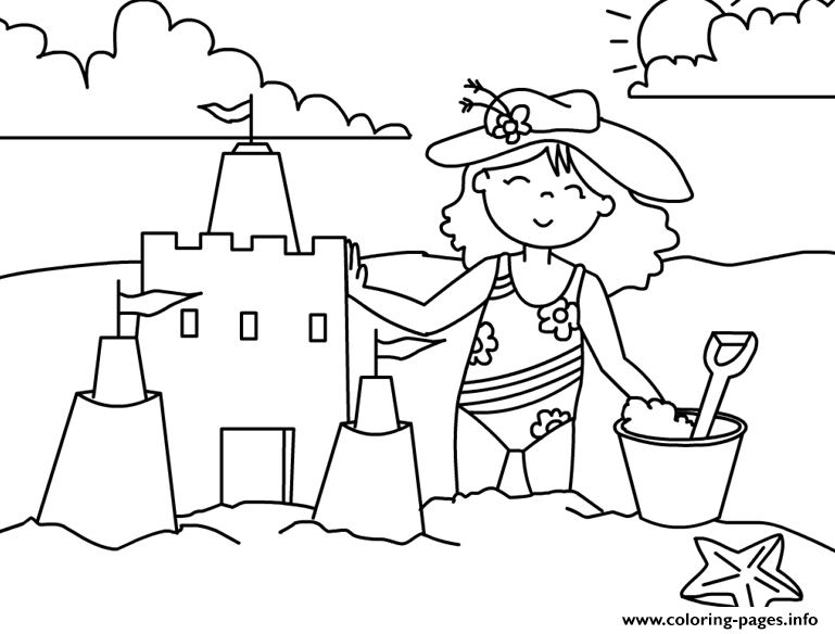 Girl Preschool S Summer Funb0db Coloring Pages Printable