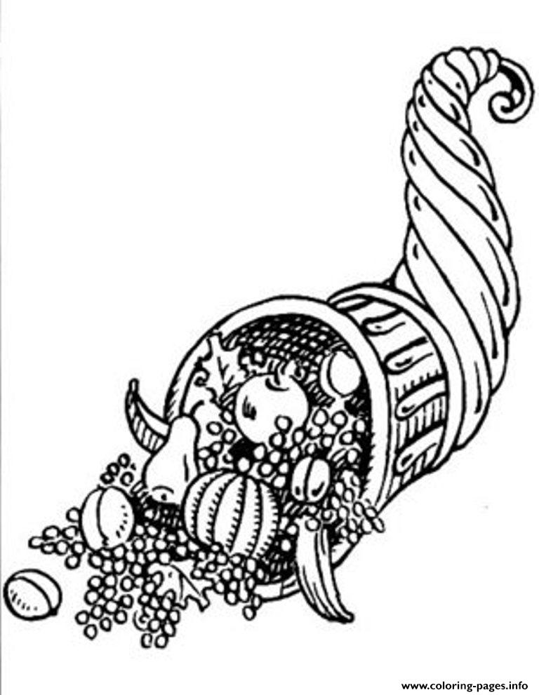Cornucopia S For Kids Thanksgiving4f09 coloring pages