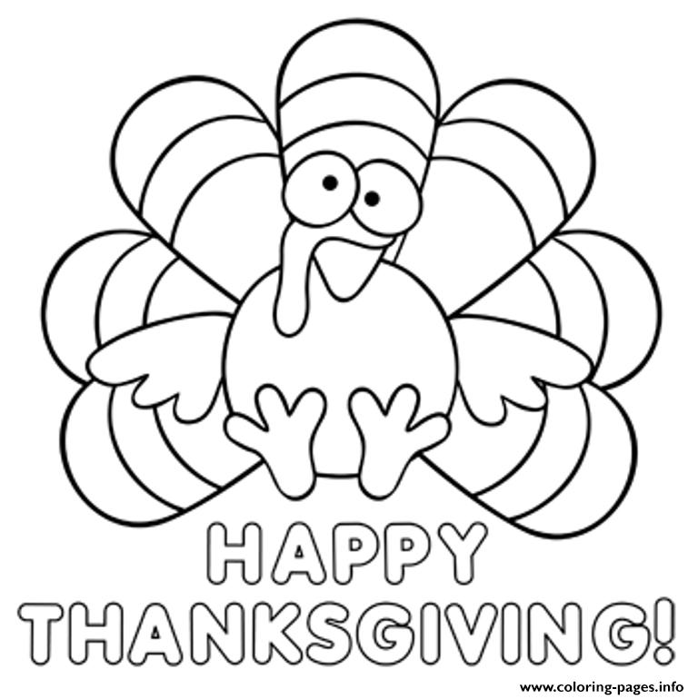 turkey happy thanksgiving s childrenc255 coloring pages