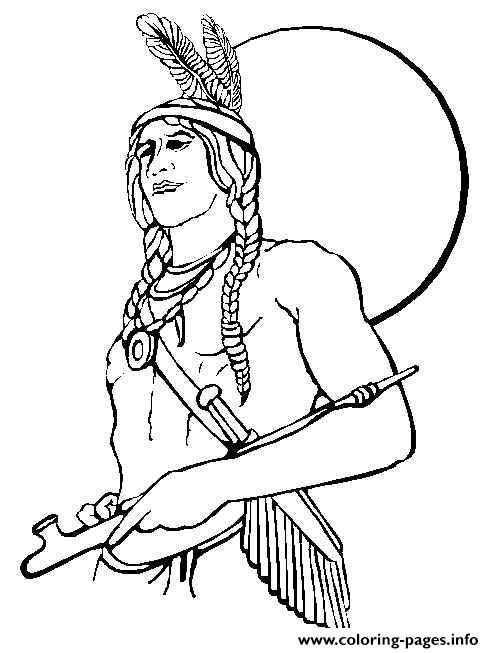 Thanksgiving S Of Native Americans Of Indian Men01ca Coloring Pages ...