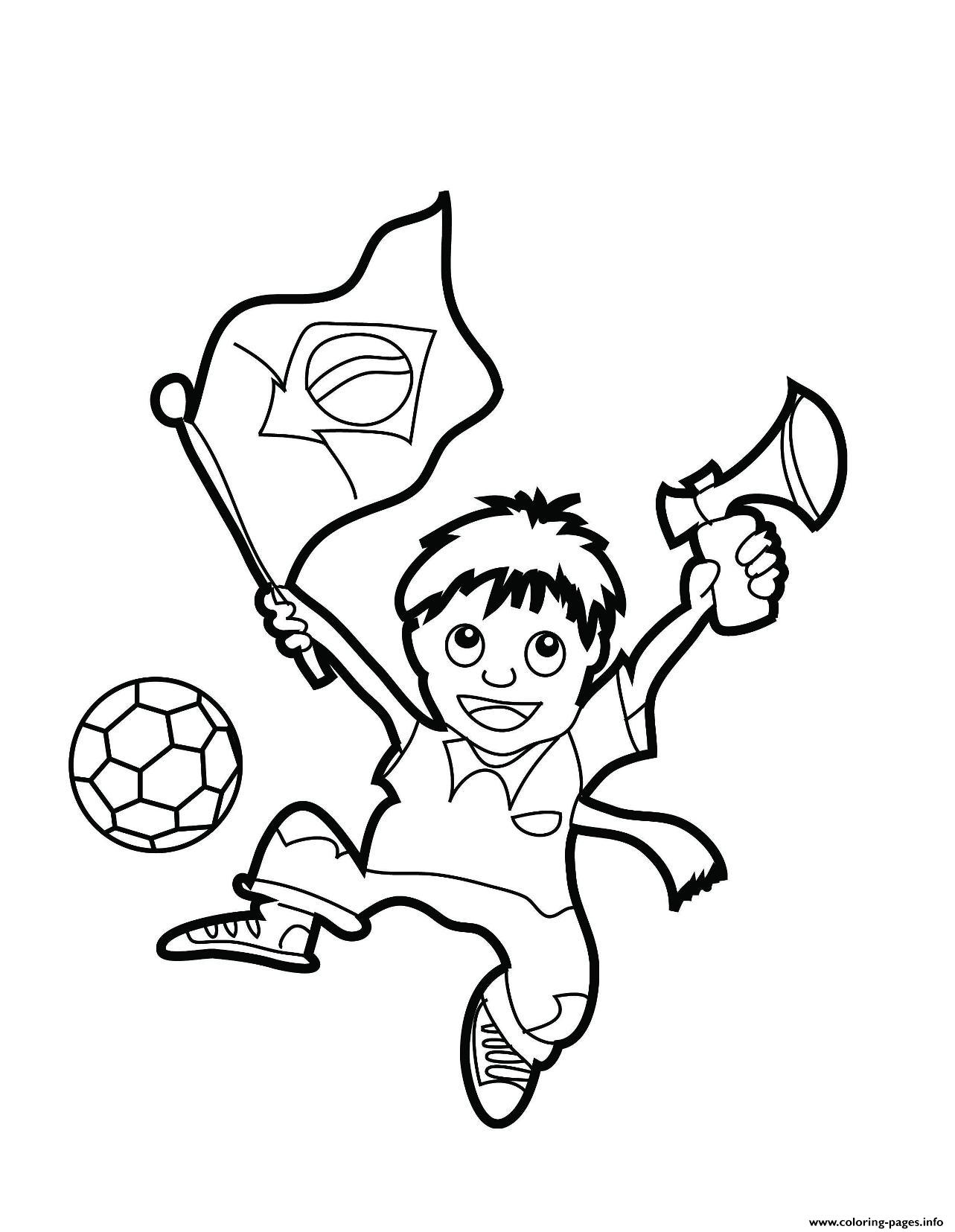 boy and brazil flag coloring pages printable