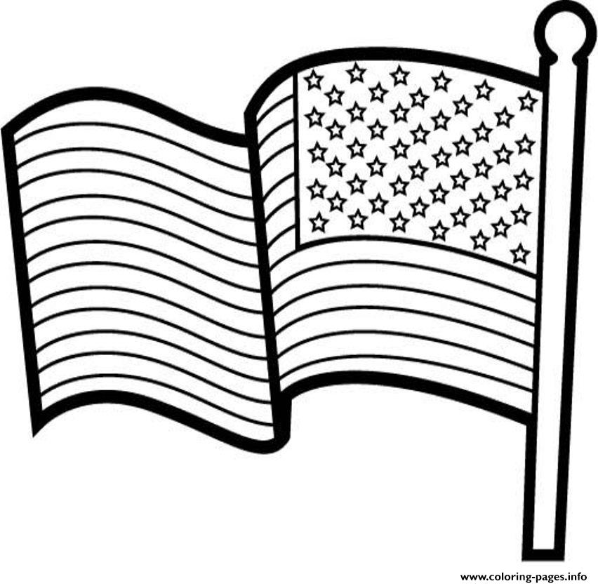 - American Flag For Kids Coloring Pages Printable
