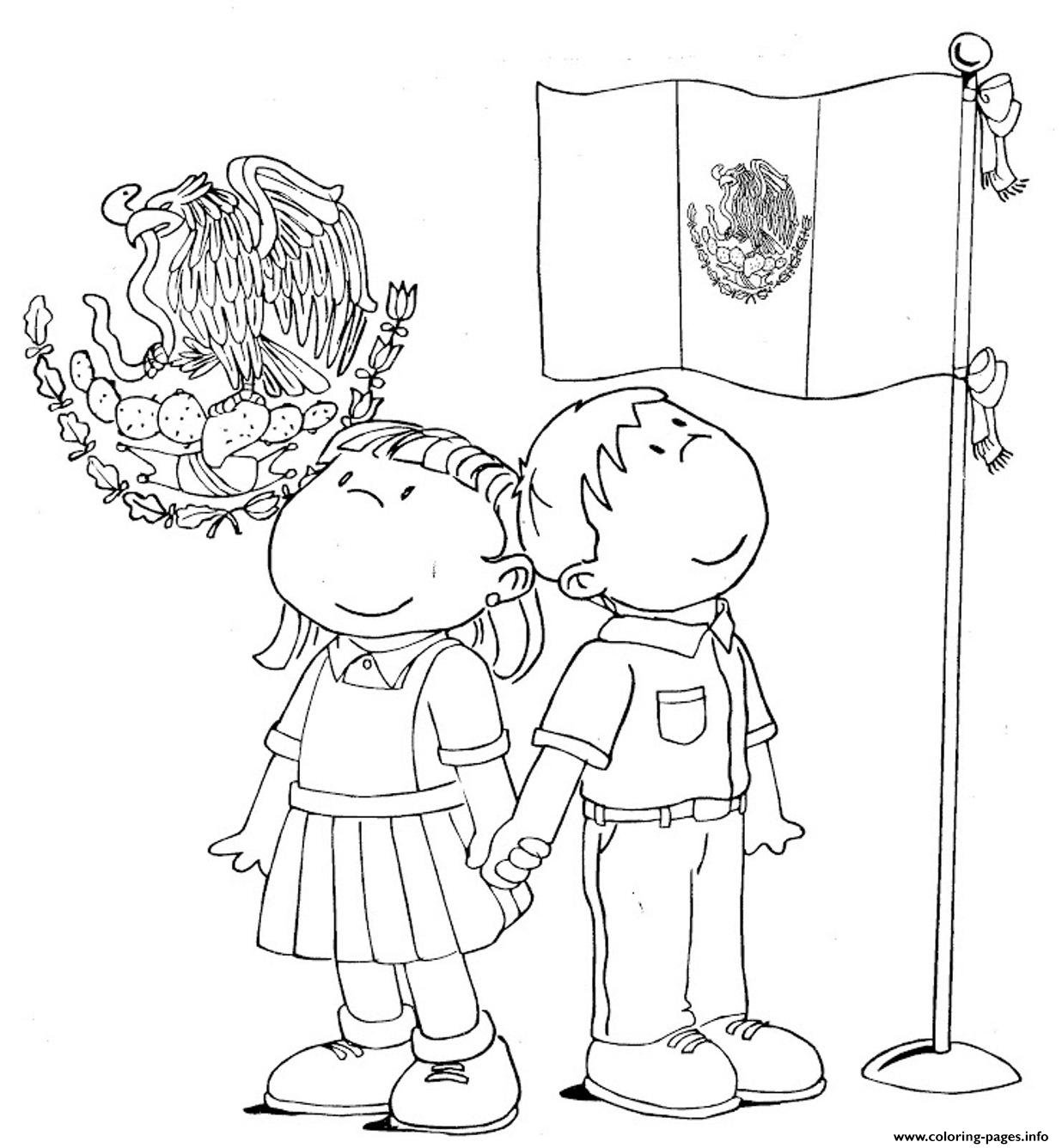 Mexican Flag Kids Coloring Pages