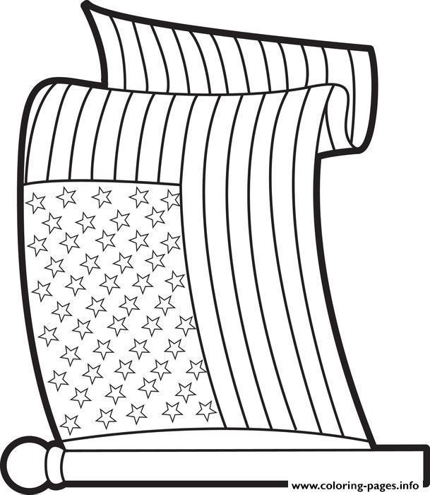 American Flag Landscape Coloring Pages Printable