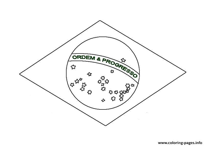 free brazil flag s3a3b coloring pages - Brazil Flag Coloring Page