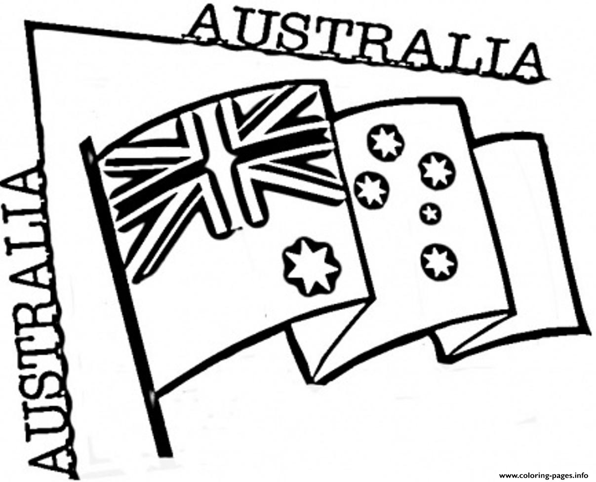 Preschool Australian Flag Coloring Pages Printable
