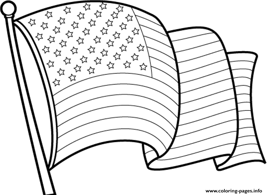- Awesome American Flag Coloring Pages Printable