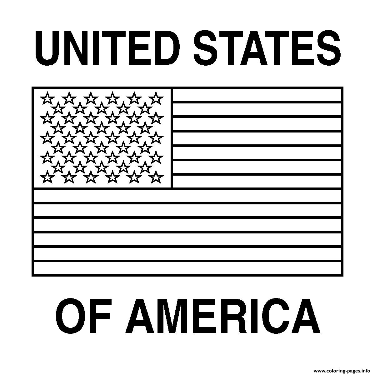 photograph regarding Free Printable American Flag titled Free of charge Printable American Flag Coloring Webpages Printable
