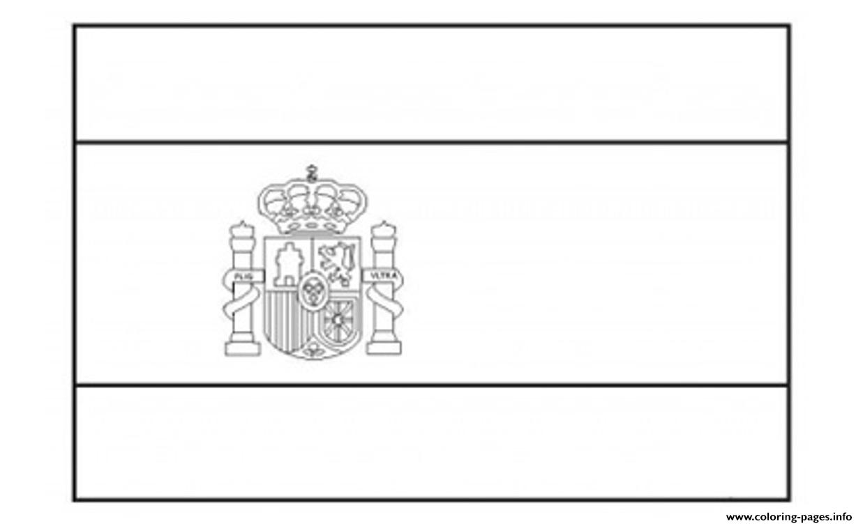 Spain Flag Coloring Pages
