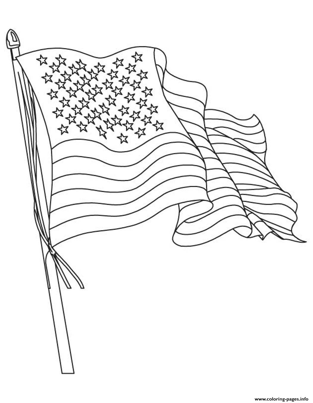 American Flag  Waving Flag9878 coloring pages