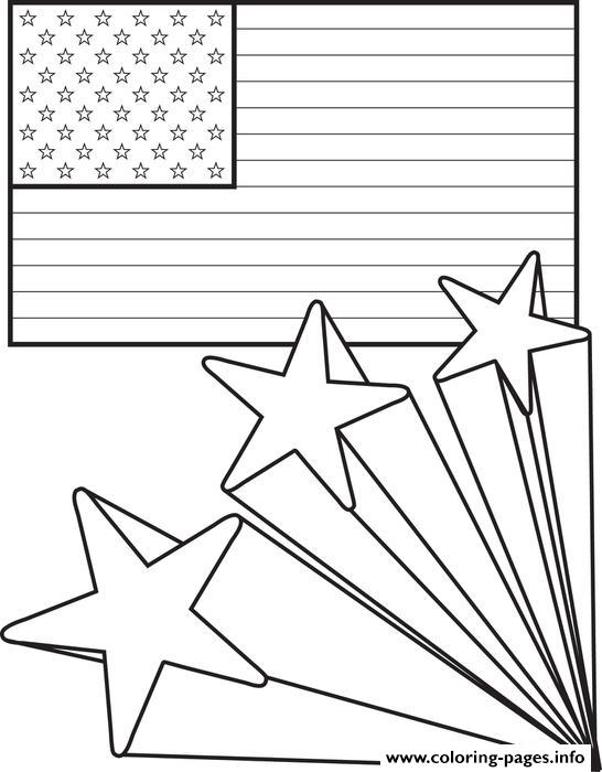 American Flag 4th Of July Coloring