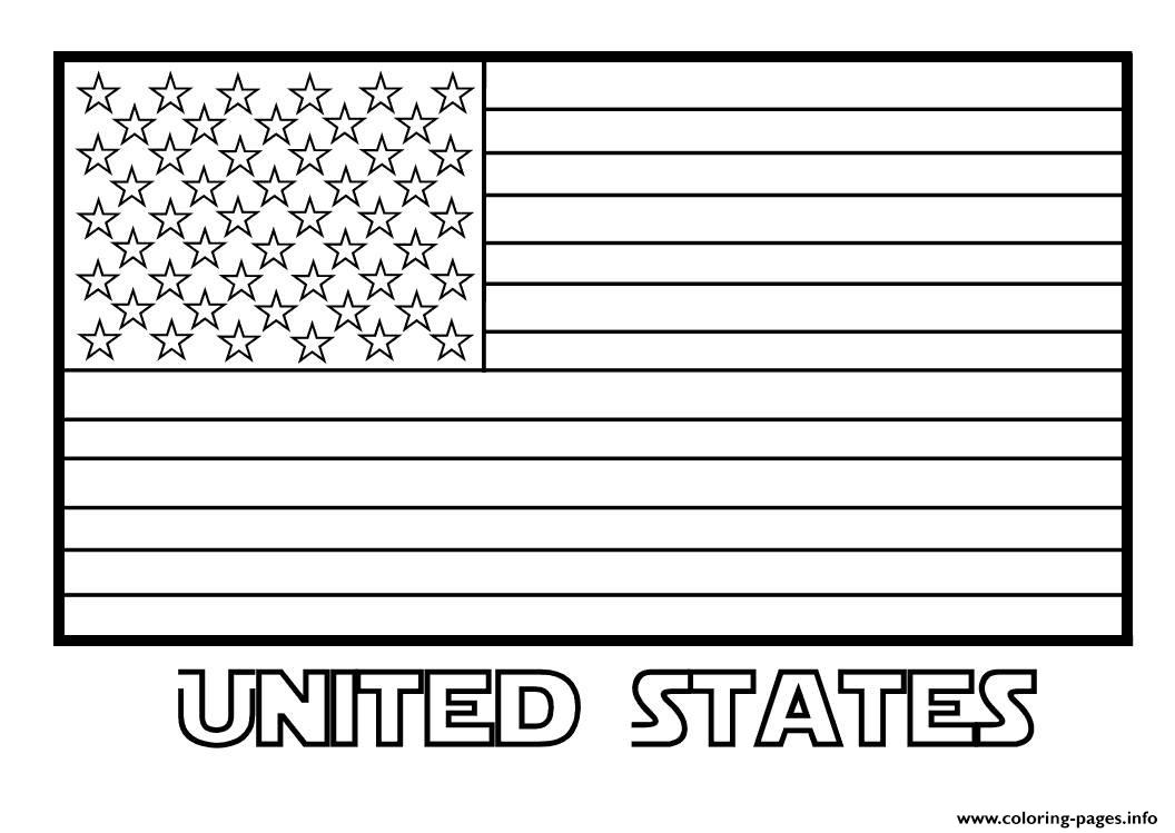American Flag United States Coloring Pages Printable