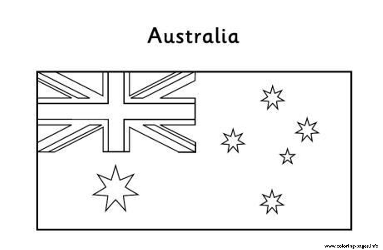 Australian flag free coloring pages printable for Free printable flags of the world coloring pages