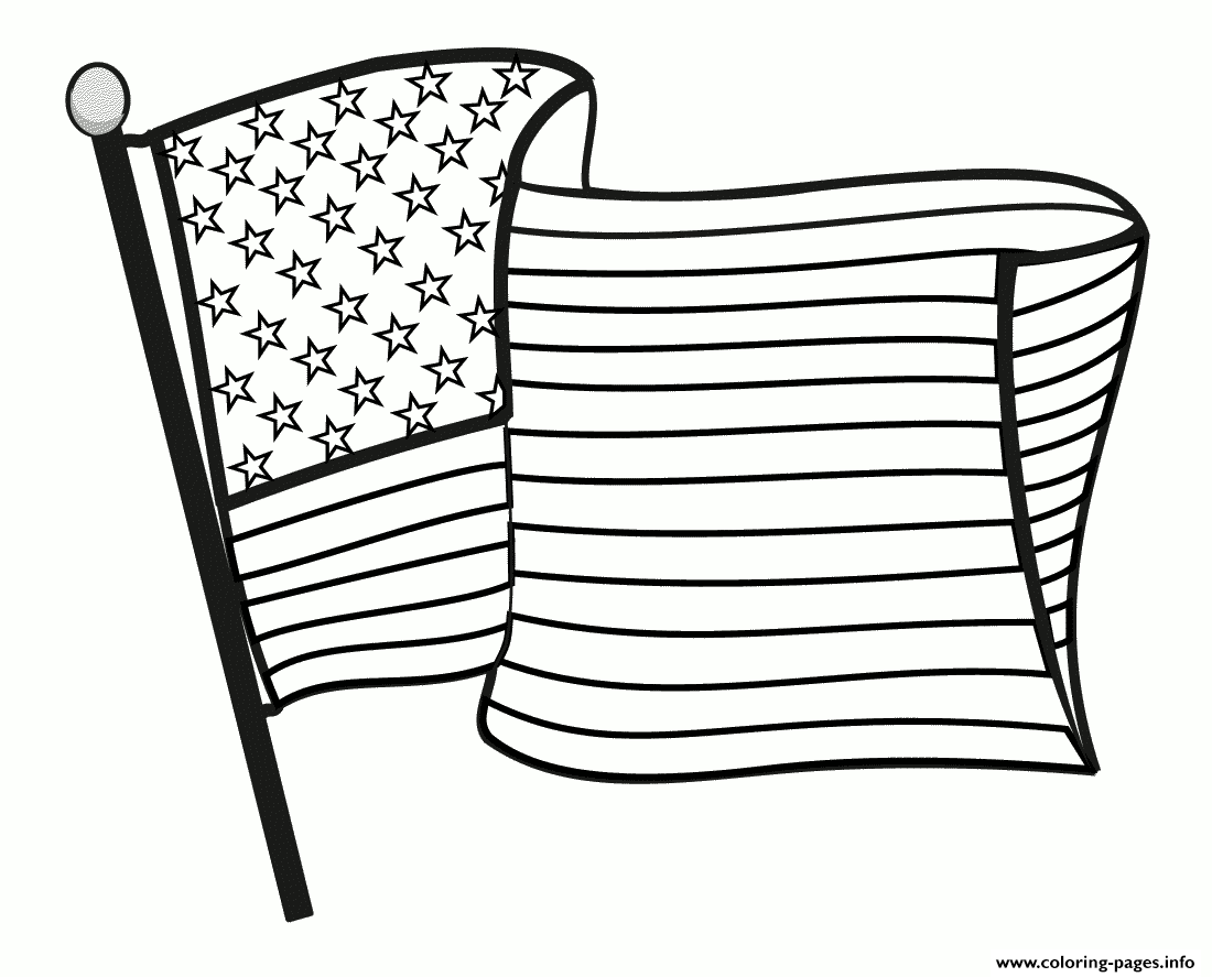Great American Flag Coloring Pages Printable