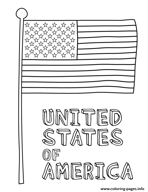 4th Of July American Flag Coloring Pages Printable
