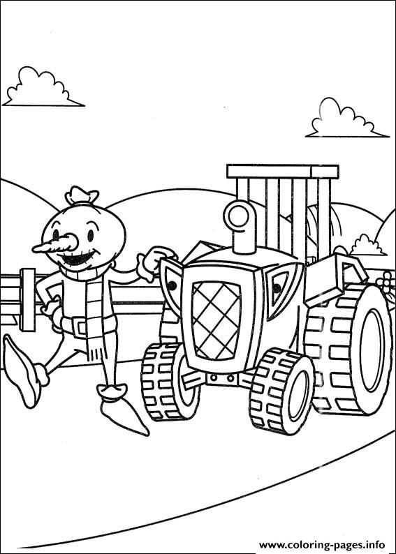 Bob The Builder 64 coloring pages