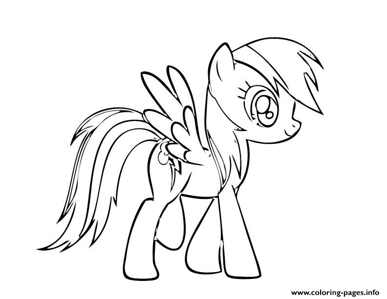 rainbow dash 1 Coloring pages Printable