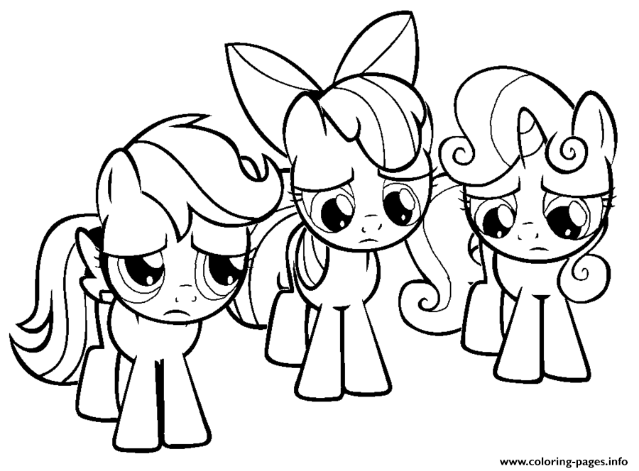 Print 3 Little Rainbow Dash Pony Coloring Pages